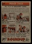 1956 Topps Round Up #69   -  Geronimo Peace Talk Back Thumbnail