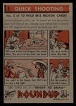 1956 Topps Round Up #5   -  Wild Bill Hickok Quick Shooting Back Thumbnail