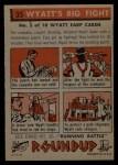 1956 Topps Round Up #35   -  Wyatt Earp  Wyatts Big Fight Back Thumbnail