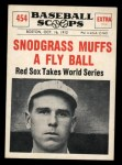1961 Nu-Card Scoops #454   Fred Snodgrass   Front Thumbnail