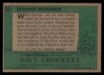1956 Topps Davy Crockett #35 GRN  Strange Neighbor  Back Thumbnail