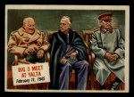 1954 Topps Scoop #59   Big 3 Meet At Yalta  Front Thumbnail