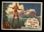 1954 Topps Scoop #60   Acrobat Crosses Niagara  Front Thumbnail