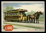 1955 Topps Rails & Sails #61   Street Car Front Thumbnail