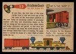 1955 Topps Rails & Sails #53   Vista Dome Coach Back Thumbnail