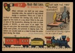 1955 Topps Rails & Sails #27   Rack-Rail Locomotive Back Thumbnail