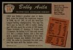 1955 Bowman #19  Bobby Avila  Back Thumbnail