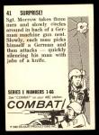 1964 Donruss Combat #41   Surprise! Back Thumbnail