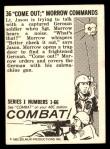 1964 Donruss Combat #36   Come Out; Morrow Commands Back Thumbnail