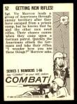 1964 Donruss Combat #52   Getting New Rifles! Back Thumbnail