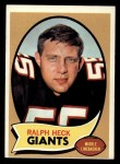 1970 Topps #127  Ralph Heck  Front Thumbnail