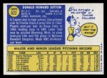 1970 Topps #622  Don Sutton  Back Thumbnail