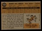 1960 Topps #486  Bobby Del Greco  Back Thumbnail