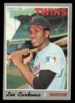 1970 Topps #245  Leo 'Chico' Cardenas  Front Thumbnail