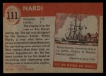 1954 Topps World on Wheels #111   Nardi Back Thumbnail