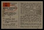 1954 Bowman #33  Hal Giancanelli  Back Thumbnail