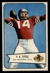 1954 Bowman #42  Y.A. Tittle  Front Thumbnail