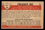 1953 Bowman Black and White #26  Preacher Roe  Back Thumbnail