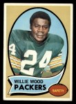 1970 Topps #261  Willie Wood  Front Thumbnail