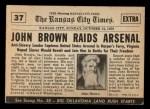 1954 Topps Scoop #37   John Browns Raid  Back Thumbnail