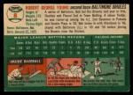 1954 Topps #8  Bob Young  Back Thumbnail