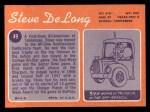 1970 Topps #49  Steve DeLong     Back Thumbnail