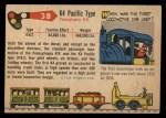 1955 Topps Rails & Sails #38   K4 Pacific Type Back Thumbnail