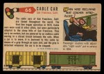 1955 Topps Rails & Sails #66   Cable Car Back Thumbnail