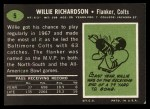 1969 Topps #5  Willie Richardson  Back Thumbnail