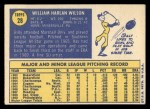 1970 Topps #28  Bill Wilson  Back Thumbnail