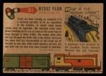 1955 Topps Rails & Sails #31   Wedge Snow Plow Back Thumbnail