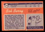 1970 Topps #259  Bob Berry  Back Thumbnail