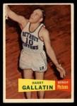1957 Topps #62  Harry Gallatin  Front Thumbnail