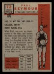 1957 Topps #72  Paul Seymour  Back Thumbnail