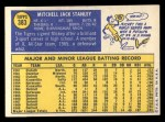 1970 Topps #383  Mickey Stanley  Back Thumbnail