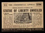 1954 Topps Scoop #11   Statue Of Liberty Unveiled Back Thumbnail
