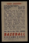 1951 Bowman #86  Harry Brecheen  Back Thumbnail