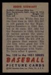 1951 Bowman #159  Ed Stewart  Back Thumbnail