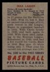 1951 Bowman #230  Max Lanier  Back Thumbnail