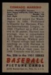 1951 Bowman #206  Connie Marrero  Back Thumbnail