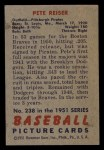 1951 Bowman #238  Pete Reiser  Back Thumbnail