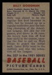1951 Bowman #237  Billy Goodman  Back Thumbnail