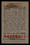 1951 Bowman #226  Jimmy Dykes  Back Thumbnail