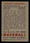 1951 Bowman #60  Chico Carrasquel  Back Thumbnail