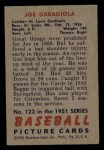 1951 Bowman #122  Joe Garagiola  Back Thumbnail