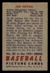 1951 Bowman #82  Joe Tipton  Back Thumbnail