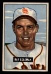 1951 Bowman #136  Ray Coleman  Front Thumbnail