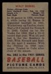 1951 Bowman #283  Walt Dubiel  Back Thumbnail