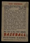 1951 Bowman #221  Dick Whitman  Back Thumbnail