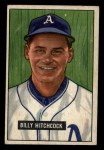 1951 Bowman #191  Billy Hitchcock  Front Thumbnail